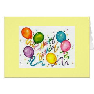 Tarjeta de felicitación reciclada del feliz cumple