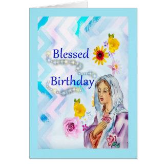 Tarjeta de felicitación religiosa bendecida del