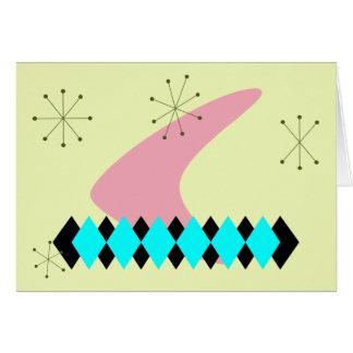 tarjeta de felicitación retra de los años 50