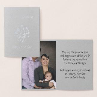 Tarjeta Con Relieve Metalizado Tarjeta de felicitación retra del ornamento del