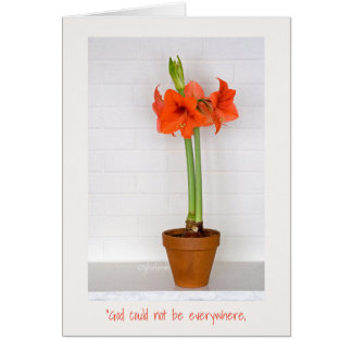 Tarjeta de felicitación roja de Pascua del