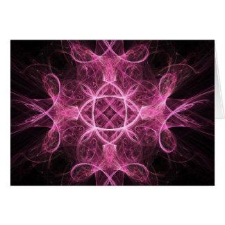 Tarjeta de felicitación rosada apasionada del
