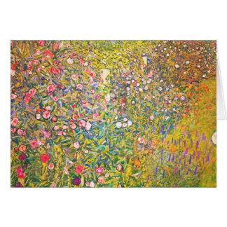 Tarjeta de felicitación rosada de las flores de