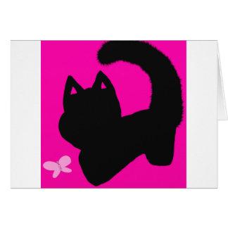 tarjeta de felicitación rosada del espacio en