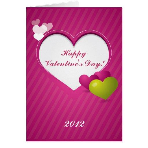 Tarjeta de felicitación rosada Editable del el día
