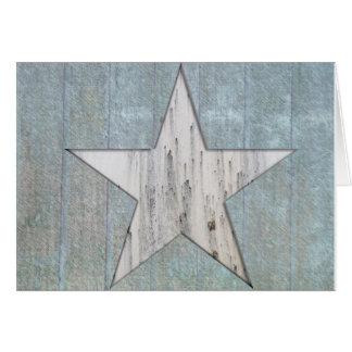 Tarjeta de felicitación rústica de la estrella