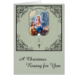 Tarjeta de felicitación santa de la familia del
