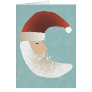 Tarjeta de felicitación soñolienta del navidad de