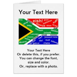 Tarjeta de felicitación surafricana del argot -
