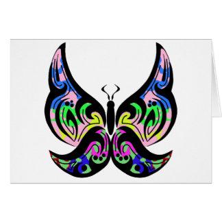 Tarjeta de felicitación tribal de la mariposa