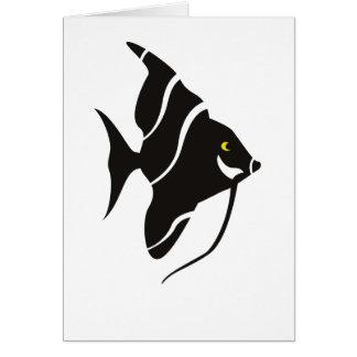 Tarjeta de felicitación tropical de los pescados