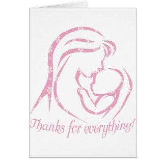Tarjeta de felicitación única del día de madre
