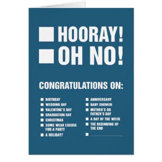 Tarjeta de felicitación universal (más zombis)