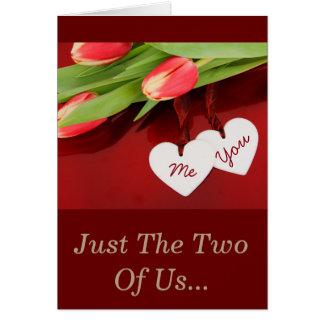 Tarjeta de felicitación verdadera del amor del