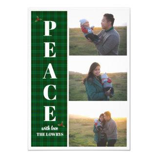 Tarjeta de felicitación verde del navidad del día