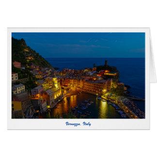 Tarjeta de felicitación - Vernazza, Italia en la