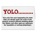 Tarjeta de felicitación YOLO….definición