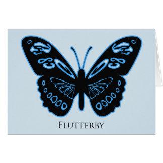 Tarjeta de felicitaciones azul del resplandor de