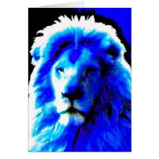 "Tarjeta de felicitaciones azul principal del ""feli"