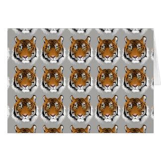 Tarjeta de felicitaciones de la cara del tigre