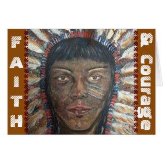 Tarjeta de felicitaciones de la fe y del valor