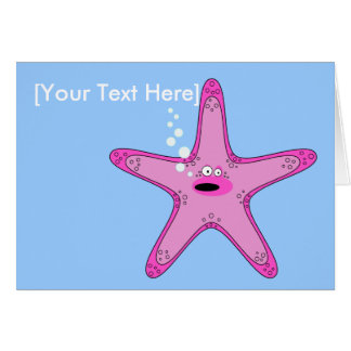 Tarjeta de felicitaciones de las estrellas de mar