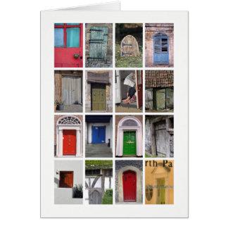 Tarjeta de felicitaciones de las puertas