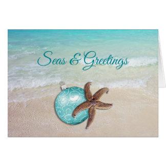 Tarjeta de felicitaciones de los mares n de las