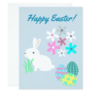 Tarjeta de felicitaciones de Pascua de los huevos