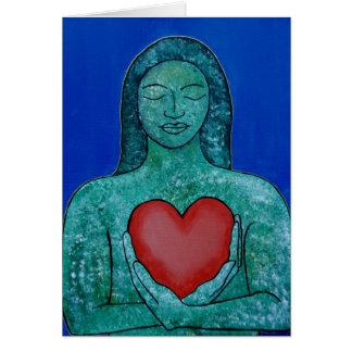 Tarjeta de felicitaciones del amor del uno mismo