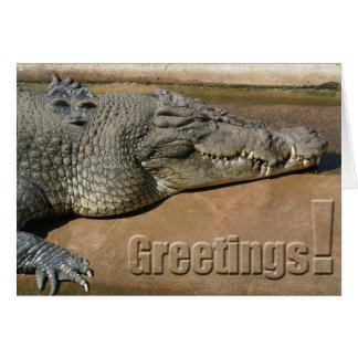 Tarjeta de felicitaciones del cocodrilo