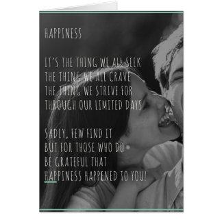 Tarjeta de felicitaciones del compromiso, del boda