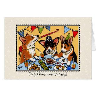 Tarjeta de felicitaciones del cumpleaños del perro