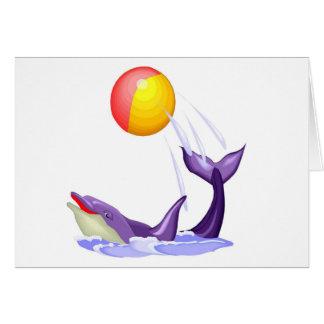 Tarjeta de felicitaciones del delfín
