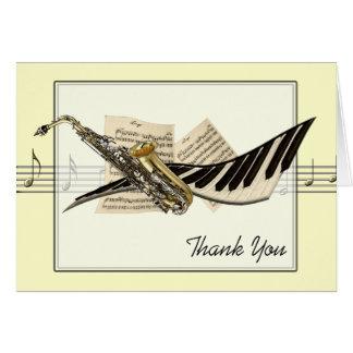 Tarjeta de felicitaciones del diseño de la música