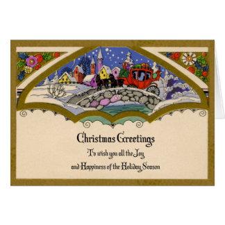 tarjeta de felicitaciones del navidad de los años