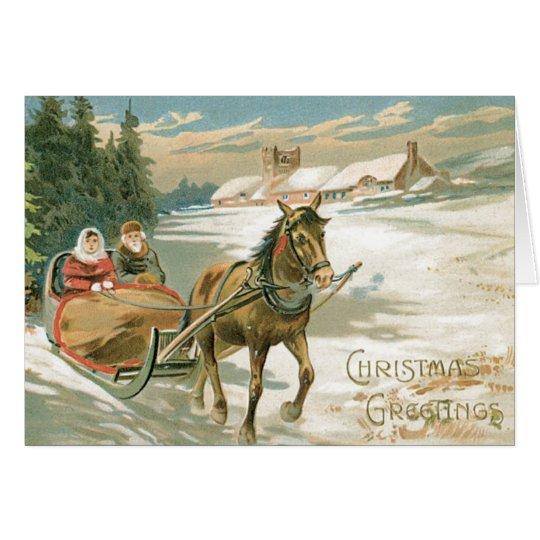 Tarjeta de felicitaciones del navidad del vintage