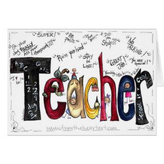 Tarjeta de felicitaciones del profesor
