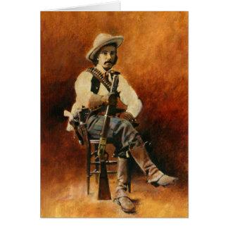 Tarjeta de felicitaciones del vaquero del vintage