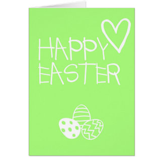 Tarjeta de felicitaciones feliz de Pascua simple