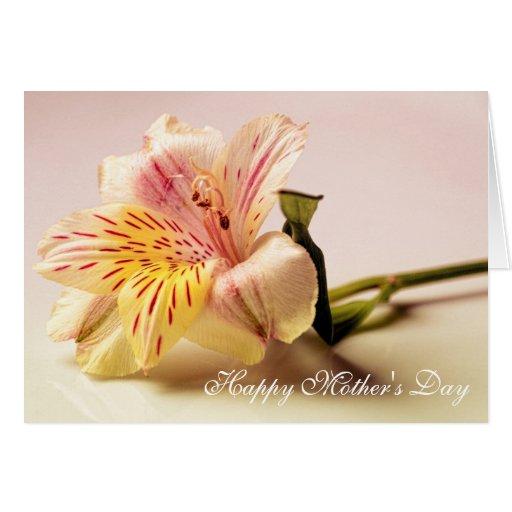 Tarjeta de felicitaciones feliz del día de madre