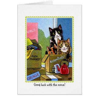 Tarjeta de felicitaciones móvil del gato de casa