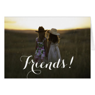 Tarjeta de felicitaciones rústica de los amigos