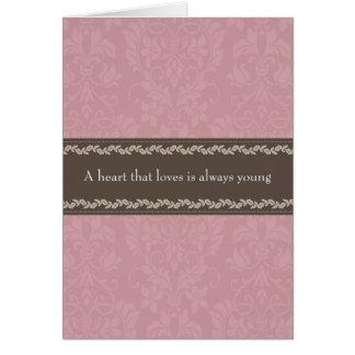 Tarjeta de felicitaciones temática del amor