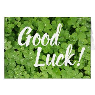 Tarjeta de felicitaciones verde de la buena suerte