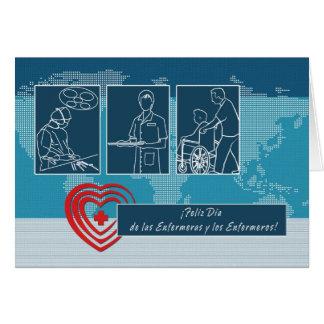 Tarjeta de Feliz Día de las Enfermeras y los Enfer
