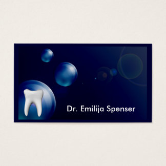 Tarjeta de general Dentist Blue Bubble Design