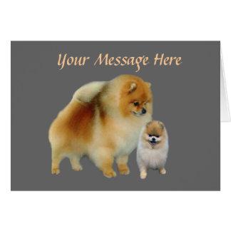 Tarjeta de Greetng de los Pals de Pomeranian
