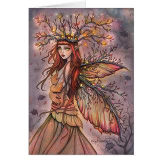 Tarjeta de hadas del arte de la fantasía de la