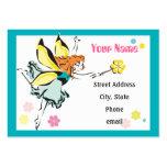 Tarjeta de hadas mágica del perfil tarjetas de visita